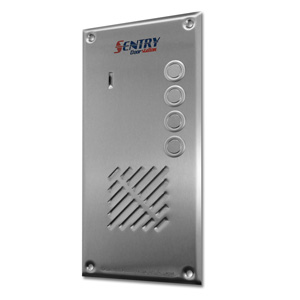 Sentry door station with 4 button intercom