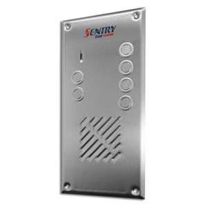 Sentry door station with 6 buttons intercom