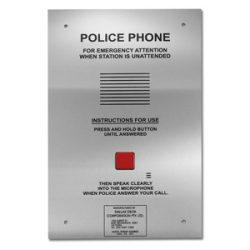 Police customer service telephone 1 button