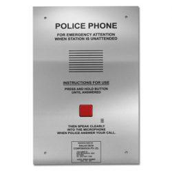 Police customer service telephone 1 button