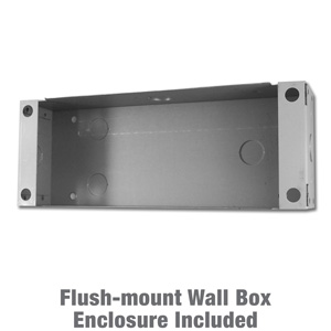 horizontal flush-mount wall box enclosure for door station