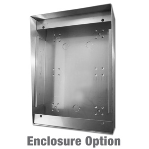vertical stainless steel enclosure for customer service telephones