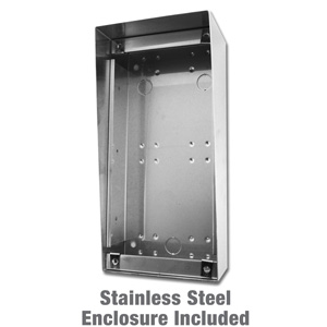 vertical stainless steel enclosure for door station