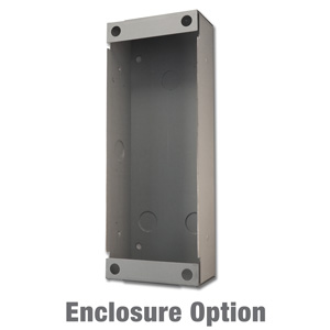 vertical flush-mount wall box enclosure for door station