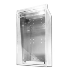 vertical perspex enclosure for door station