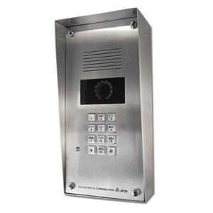 video entrance station and intercom with camera and keypad